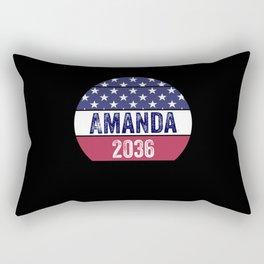 Amanda 2036 black poet unity and togetherness Rectangular Pillow
