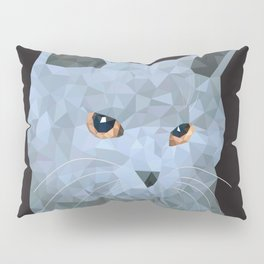 Low poly british cat Pillow Sham