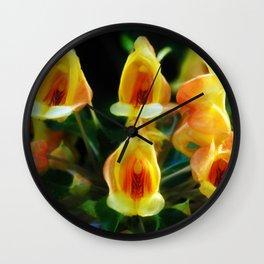 Yellow Flowers Scoop Petals Wall Clock