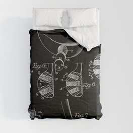 Golf Club Blueprint Patent Comforters