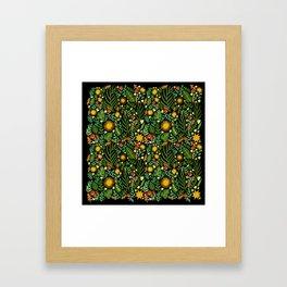 Sunshine Botanical - Dark Version Framed Art Print