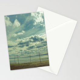 Empty beach Stationery Cards