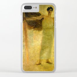 Handsome Golden Angel Clear iPhone Case