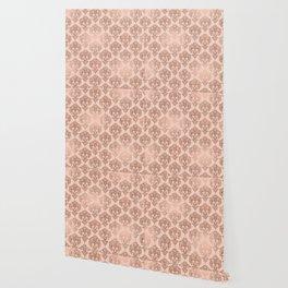 Rose Gold Damask Wallpaper