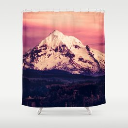 Mt Hood Mountain with Snow Shower Curtain