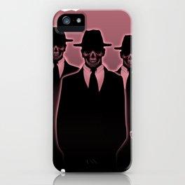 Skulls in Black iPhone Case