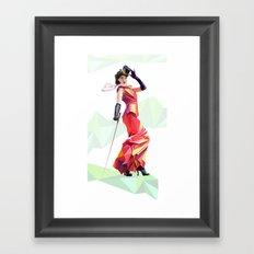 Polygone lady 2 Framed Art Print