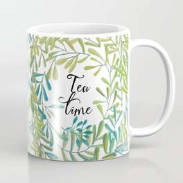 green leaves nature Coffee Mug