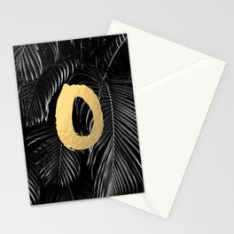 XO set - gold on palm leaves Stationery Cards