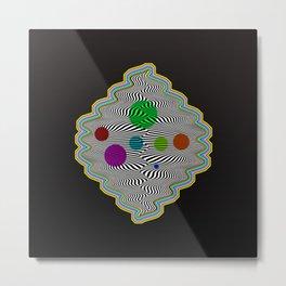 Abstract illusional waves Metal Print