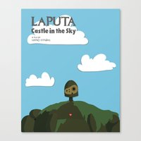 laputa Canvas Prints featuring Laputa Castle in the Sky by okayleigh