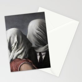 The Lovers II (Les Amants) 1928, Artwork Rene Magritte For Prints, Posters, Shirts, Bags Men Women K Stationery Cards