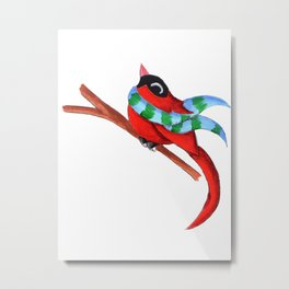 Warm Red Metal Print