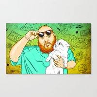 action bronson Canvas Prints featuring Action Bronson in the Kitchen by Timothy McAuliffe