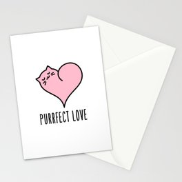 Cat heart Stationery Cards