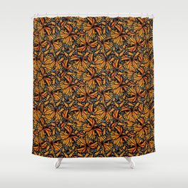 Monarch Butterflies Pattern | Butterfly Pattern | Shower Curtain