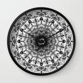 BLACK AND WHITE OM MANDALA Wall Clock