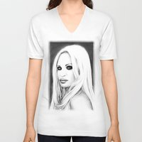 versace V-neck T-shirts featuring Donatella Versace by Denda Reloaded