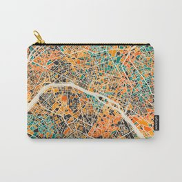 Paris mosaic map #2 Carry-All Pouch