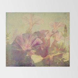 Wild Summer Flowers Throw Blanket