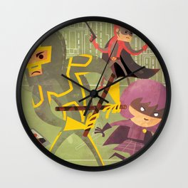 kick ass fan art 2 Wall Clock