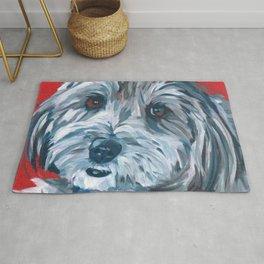 Malti Poo Dog Portrait Rug