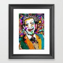 """Obama """"Change is always good"""" Framed Art Print"""