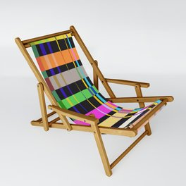 inclined coloured stripes Sling Chair