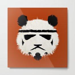Panda Trooper Metal Print