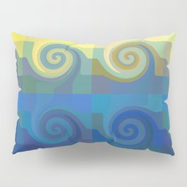 Abstract tiles and waves pattern Pillow Sham