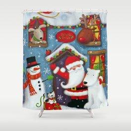 Santa's House Shower Curtain