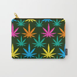 Colorful Marijuana weed Carry-All Pouch