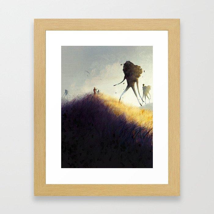 The Earth Giants Framed Art Print