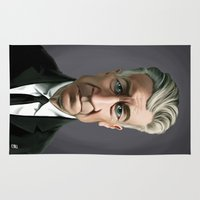 lynch Area & Throw Rugs featuring Celebrity Sunday ~ David Lynch by rob art | illustration