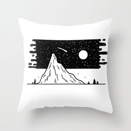 Galaxie flottante Throw Pillow