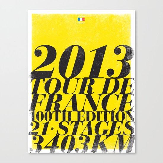 2013 Tour de France: Maillot Jaune Canvas Print