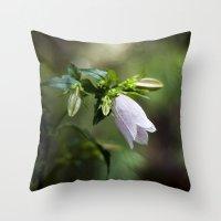 korean Throw Pillows featuring Korean Bellflower by Katie Kirkland