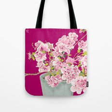 Heavenly Blossom on Pink Tote Bag
