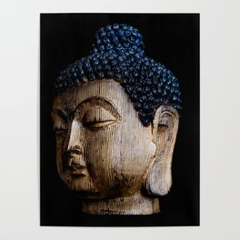 A Buddhist Statue in a Zen Moment with black background Poster