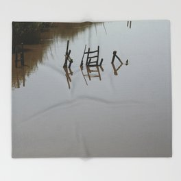 The river 's cryptic message Throw Blanket