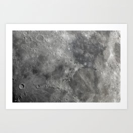 craters on the moon Art Print