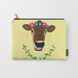 Spring Cow Carry-All Pouch