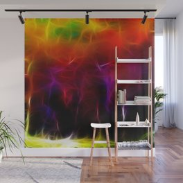 Colorful Forest Digital Wall Mural