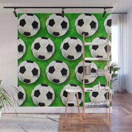 Soccer Ball Football Pattern Wall Mural