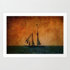 The Schooner America in Key West Art Print