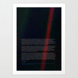Pale Blue Dot - Voyager 1 [Spanish / Español], HQ quality Art Print