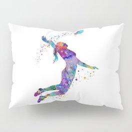 Volleyball Girl Watercolor Art Print Sports Art Painting Home Decor Birthday Gift Pillow Sham