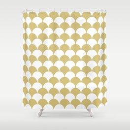 Fan Pattern 321 Gold Shower Curtain