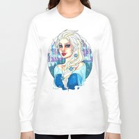 elsa Long Sleeve T-shirts featuring Elsa by Little Lost Forest