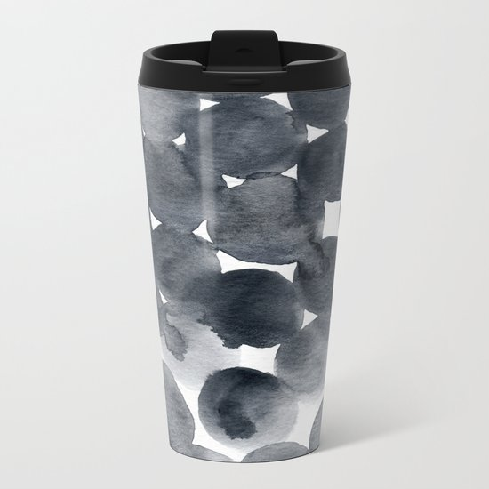 Watercolour Dots 01 Metal Travel Mug